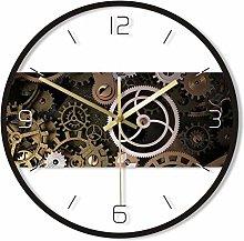 Wall Clock Clockwork Steampunk Gear Printed