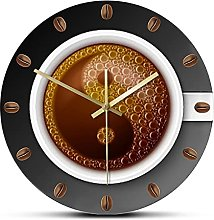 Wall Clock Coffee Slient Wall Clock For Kitchen