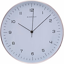 Wall Clock Copper / Black Finish Frame Clocks For