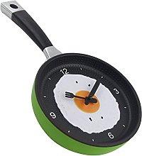 Wall clock Cutlery design creative omelette pot