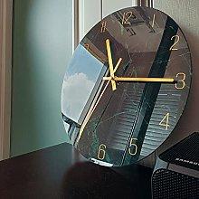 Wall Clock Dark Blue Bedroom Glass Wall Clock