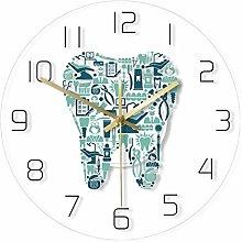 Wall Clock Dentistry Tooth Wall Clock Dental Care