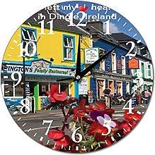 Wall Clock Dingle Ireland Hanging Clock Silent Non