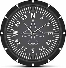 Wall Clock Directional Gyro Compass Flight