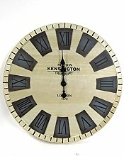 Wall Clock Extra large Light Wooden style