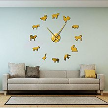 Wall clock Farm Animals Nursery Decor DIY Giant
