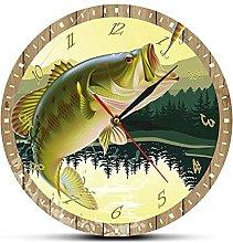 Wall Clock Fishing Wall Clock Modern Kitchen