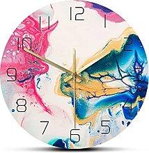 Wall Clock Fluid Art Dazzling Abstract Wall Clock