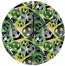 Wall Clock Football Doodle Soccer Trendy Modern