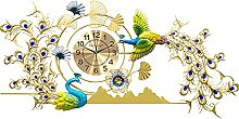 Wall Clock for Office 130 * 65CM,Large Diamond 3D