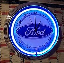 Wall Clock Ford Europe Garage Sign WALLCLOCK Blue