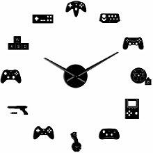 Wall Clock Gaming 3D DIY Wall Clock Modern Gamer