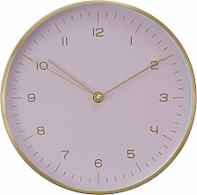 Wall Clock Gold / Pink Finish Frame Clocks For