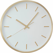 Wall Clock Gold / White Finish Frame Clocks For