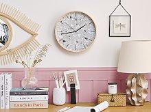 Wall Clock Grey Iron Vintage Design Granite Effect