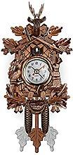 Wall Clock Handicraft Vintage Wooden Cuckoo Tree
