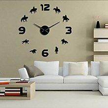 Wall clock Horse Racing DIY Giant Wall Clock Horse