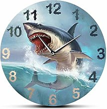Wall Clock Hungry Great White Shark Wall Clock For