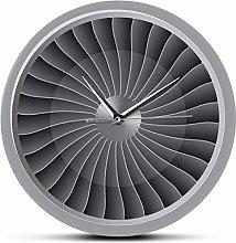 Wall Clock Jet Engine Turbine Fan Aviation Wall