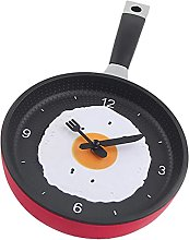 Wall Clock,Kitchen Frying Pan Shaped with Fried