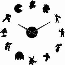 Wall Clock Kitchen Retro Video Game Characters Diy