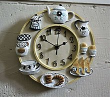 Wall Clock Kitchen School Office Home Shabby Chic