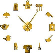 Wall Clock Kitchen Tools Diy Wall Clock Kitchen
