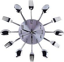 Wall Clock Kitchen Utensil Spoon Fork Wall Clock