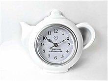 Wall Clock Kitchen White Modern style Happiness