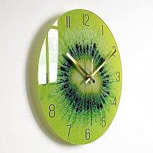 Wall Clock Kiwi Bedroom Glass Wall Clock Nordic