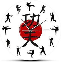 Wall Clock Kung Fu Wall Clock Chinese Calligraphy