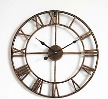Wall Clock Large,3D Vintage Wall Clock With Roman