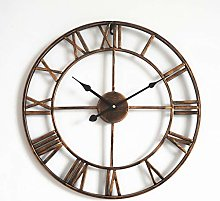 Wall Clock Large, 3D Vintage Wall Clock With Roman