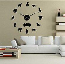 Wall clock Large Sized Dog Breed Domestic Dog