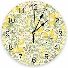 Wall Clock Lemon Fruit Small French Wall Clock