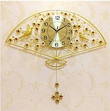 Wall Clock Living Room Fan-Shaped Modern