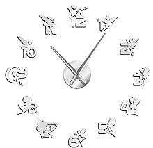 Wall clock Magical With Mirror Numbers Stickers