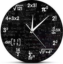 Wall clock Math Wall Clock Mathematics Clock