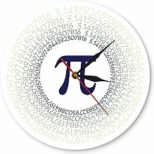 Wall clock Mathematical Constant Pi Greek Letter