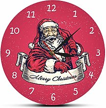 Wall Clock Merry Christmas Holidays Wall Clock Old
