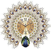 Wall Clock Modern Design,Crystal Peacock Wall