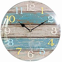 Wall Clock Moedrn Silent Battery Operated 12/14