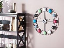Wall Clock Multicolour Balls Distressed Iron Frame