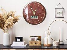 Wall Clock Multicolour Distressed Iron Frame Fan