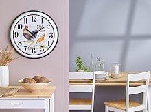 Wall Clock Multicolour Iron Open Face Country