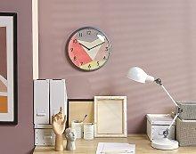 Wall Clock Multicolour Iron Open Face Retro Design