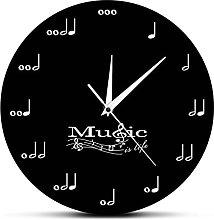 Wall Clock Music Is Life Inspirational Wall Decor