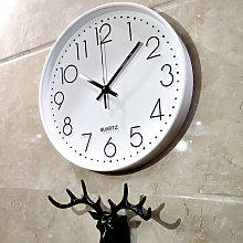 Wall clock, no ticking, modern, silent, large