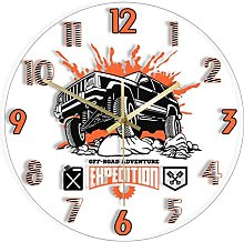 Wall Clock Off Road Adventure Expedition Car Led