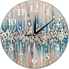 Wall Clock Painting For Interior With Silver